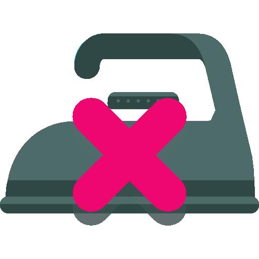 Flat Washing Instructions Icon