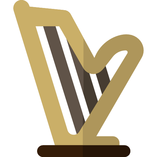 Music And Multimedia, Harp, Musical Instrument Icon