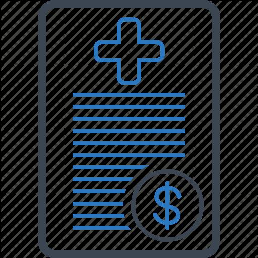 Bill, Claim, Health, Insurance Icon
