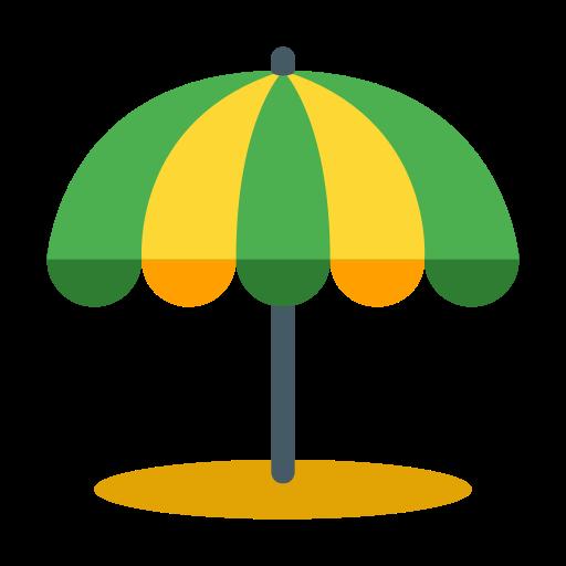 Beach Umbrella Vector Icon Free Icons Uihere