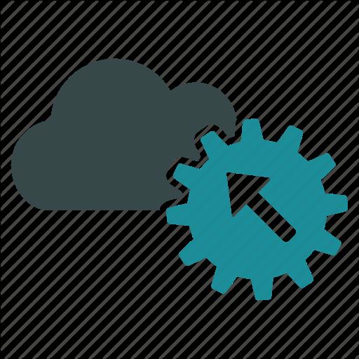 Api, Cloud, Gear, Install, Integration, Interaction, Setup Icon