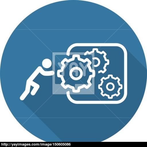 Integration Of Innovation Icon Flat Design Vector