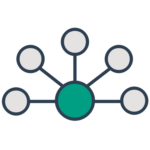 Network, Connection, Interaction, Communication, Api, Integration Icon