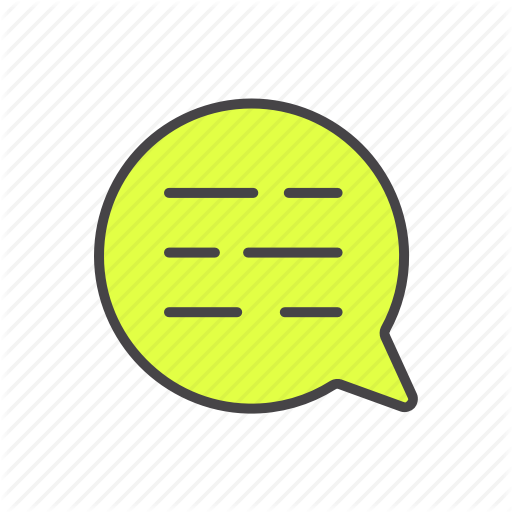 Bulb, Chat, Message, Minimalize Icon