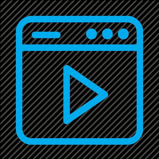 Cyan, Interface, Media, Play, Ui, User, User Interface Icon