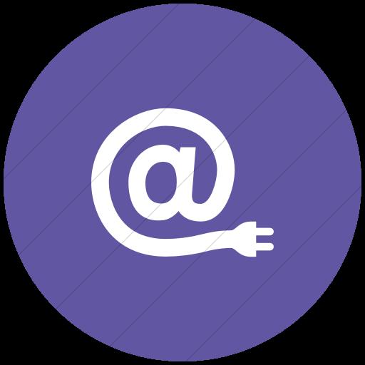 Flat Circle White On Purple Iconathon Internet