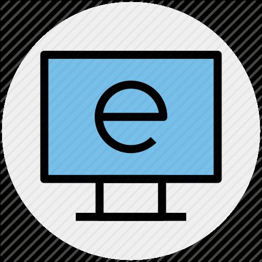 E Learning, Explore, Internet, Internet Explorer, Lcd, Learning Icon