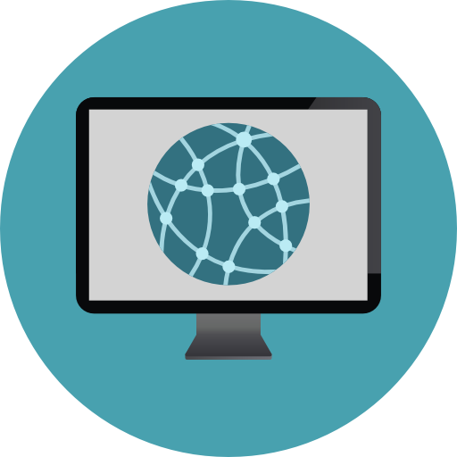 Internet Flat Cadetblue Icon