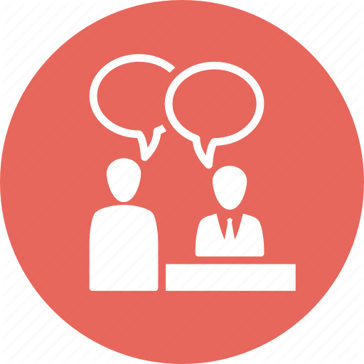 Job Interview, Meeting, Teamwork, Usability Icon