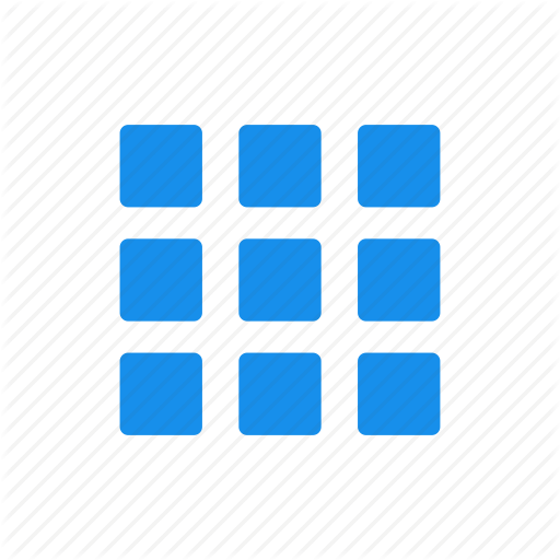 Blue, Collection, Gallery, Inventory, Menu Icon
