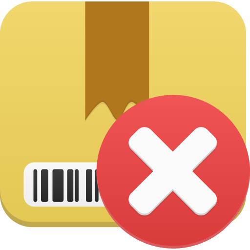Package Delete Icon Flatastic Iconset Custom Icon Design