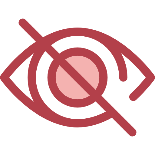 Blind, Unview, Eye, Optical, See, Hide, Invisible Icon