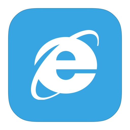 Explorer, Internet, Metroui Icon