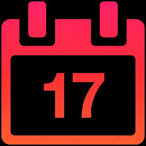 Simple Ios Orange Gradient Broccolidry Calendar Icon