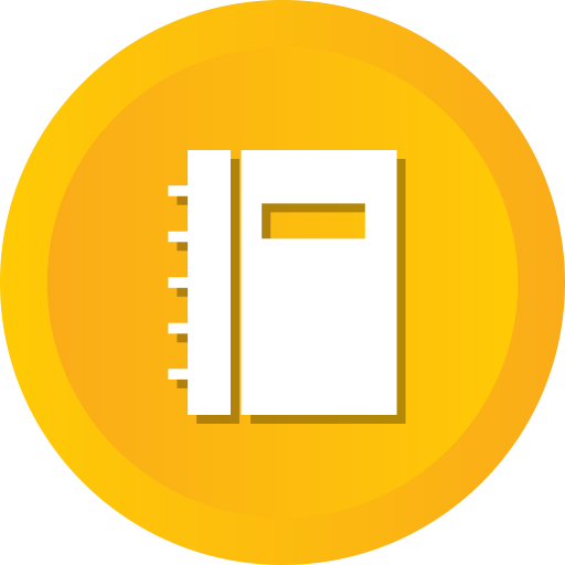 Library, Phone, Notebook, Business, Bookmark, Contacts Icon