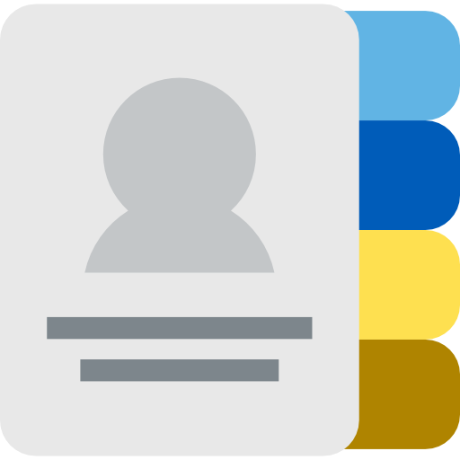 Contacts, Notepad, Emails, Phone Book, Communications, Agenda Icon