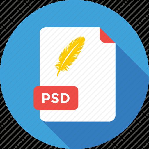 Extension, File, Type, Photoshop, Icon