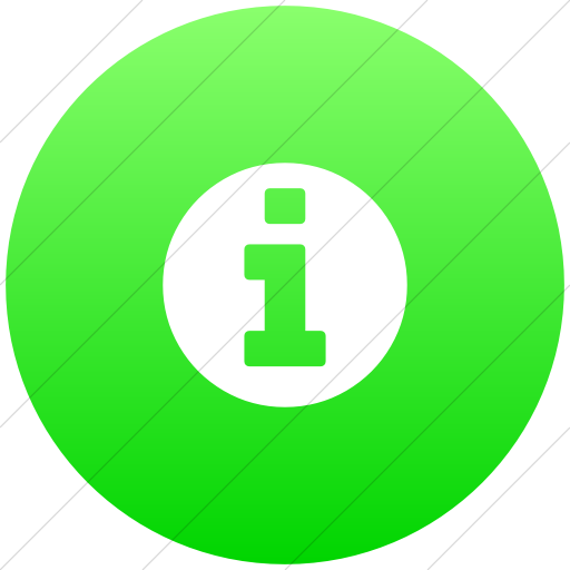 Flat Circle White On Ios Neon Green Gradient Bootstrap