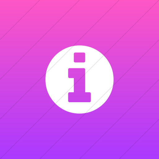 Flat Square White On Ios Pink Gradient Bootstrap Font