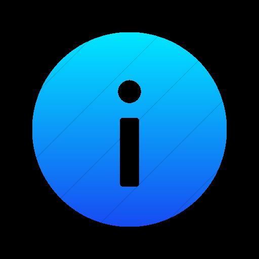 Simple Ios Blue Gradient Foundation Info Icon