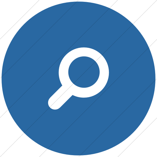 Flat Circle White On Blue Foundation Magnifying Glass