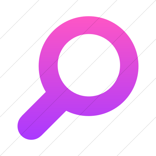 Simple Ios Pink Gradient Foundation Magnifying Glass Icon
