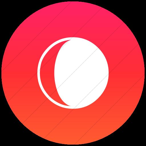 Flat Circle White On Ios Orange Gradient Classica