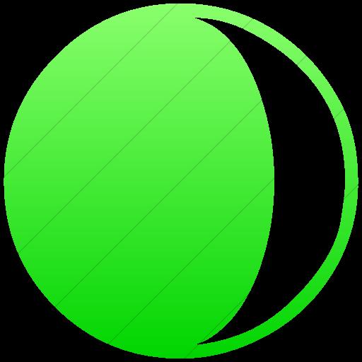 Simple Ios Neon Green Gradient Classica Waxing Crescent