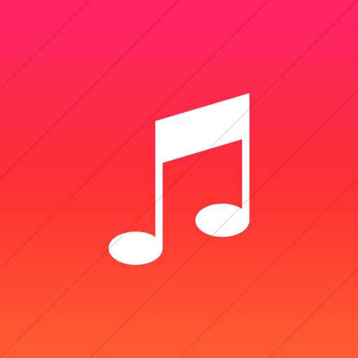 Flat Square White On Ios Orange Gradient Raphael Music Icon