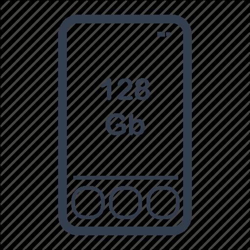 Apple, Gadget, Ios, Iphone, Memory, Phone Icon