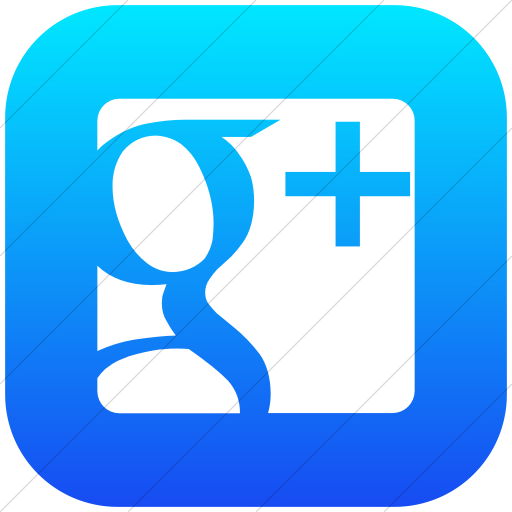 Flat Rounded Square White On Ios Blue Gradient Raphael