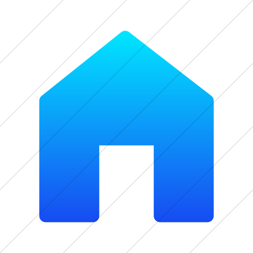 Simple Ios Blue Gradient Foundation Home Icon