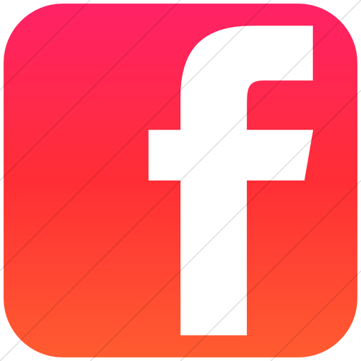 Simple Ios Orange Gradient Social Media Facebook Square