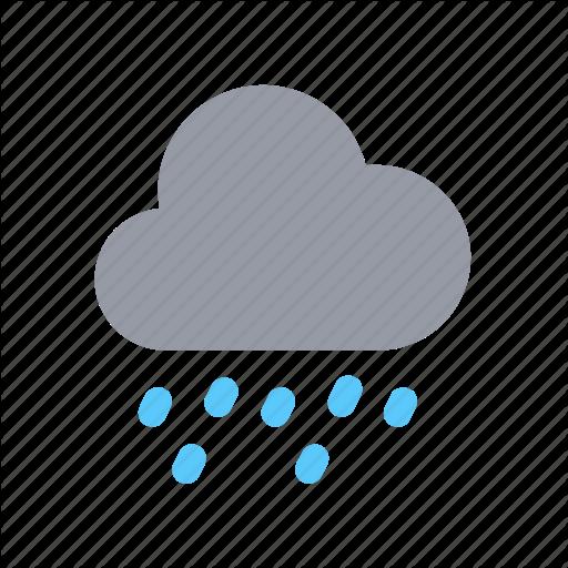 Apple, Drizzle, Ios, Night, Rain, Raindrops, Weather Icon