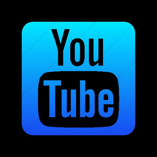 Simple Ios Blue Gradient Foundation Social Youtube Icon