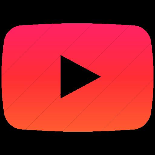 Simple Ios Orange Gradient Social Media Youtube Icon