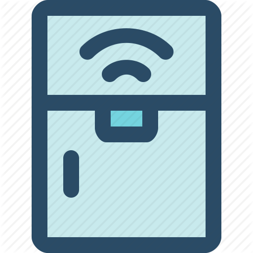 Fridge, Internet Of Things, Iot, Kitchen, Smart Home, Technology Icon