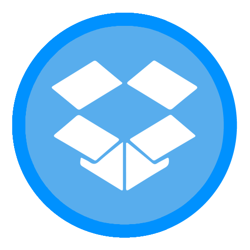 App Dropbox Icon The Circle Iconset Xenatt