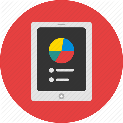 Chart, Color, Ipad, Round, Statistic, Tablet Icon
