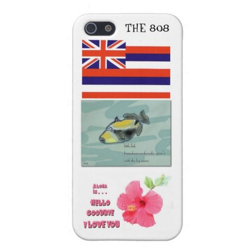 Hawaii Iphone Case With State Icons