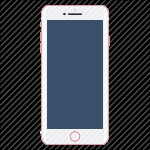 Apple, Gold, Mobile, Plus, Rose Icon