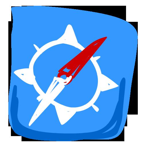 Safari, Compass Icon Free Of Hand Drawn Iphone Icons