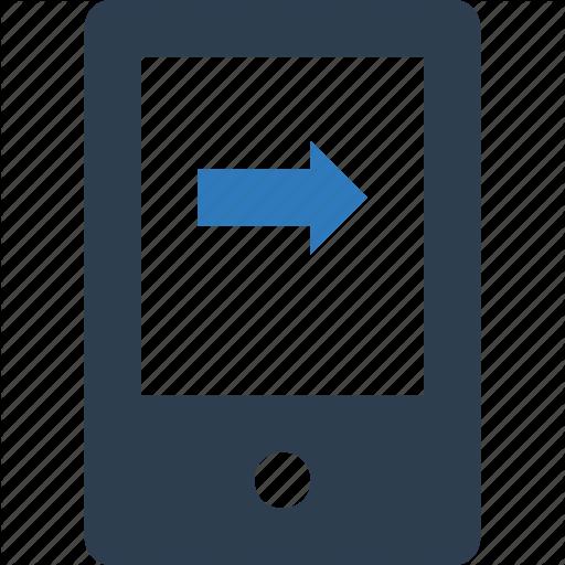 Call, Call Setup, Incoming Call, Mobile Call, Mobile Screen With Arrow