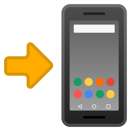 Mobile Phone With Arrow Icon Noto Emoji Objects Iconset Google