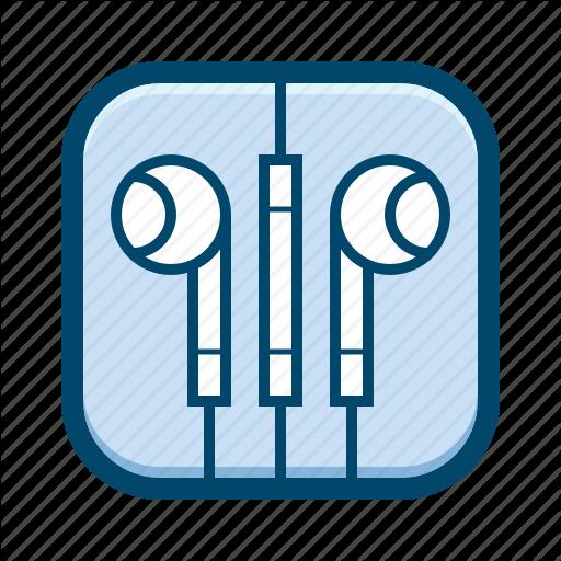 Apple, Earbuds, Earphones, In Ear, Iphone, Sound Icon