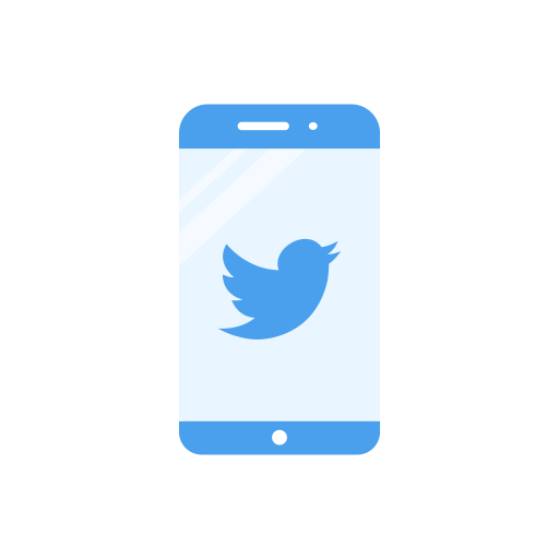 Bird, Iphone, Phone, Twitter Logo Icon