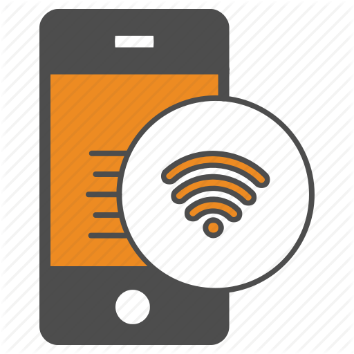 Internet, Iphone, Mobile, Phone, Wifi Icon