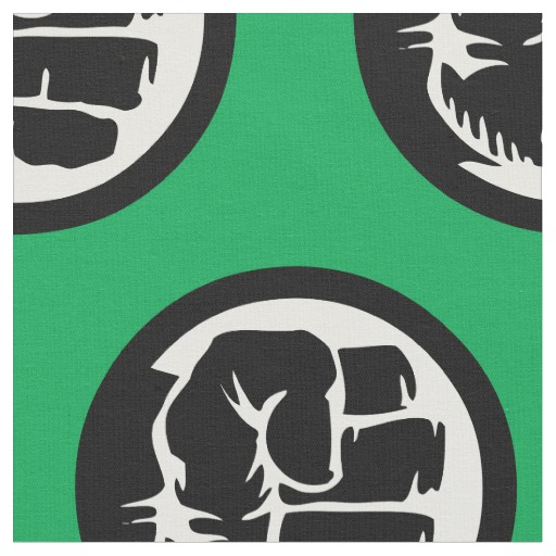 Hulk Retro Fist Icon Fabric