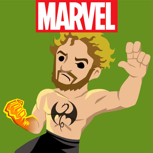 Marvel Stickers Iron Fist