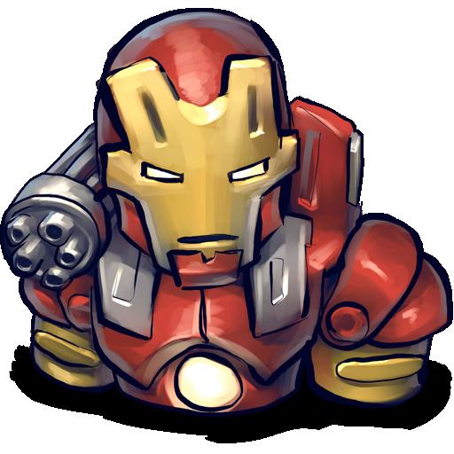 Chin, Iron, Man, Red Icon
